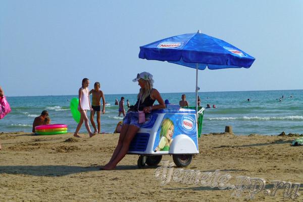 Пляж Джемете мороженое